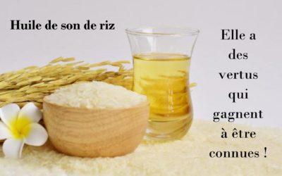 Huile de son de riz